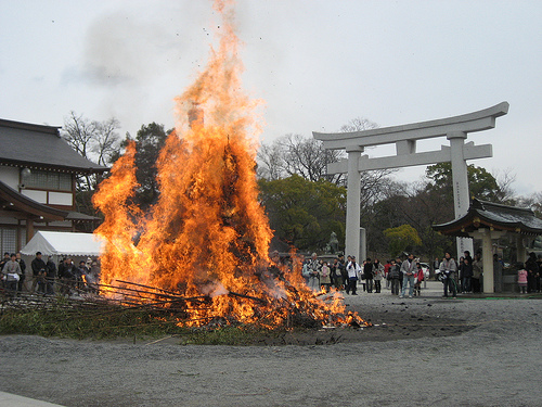 広島護国神社 の とんど祭りを取材してきました!