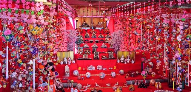 さげもん、福岡市八女の雛飾り